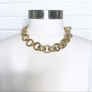 J. Crew Chunky Chain Link Necklace Gold